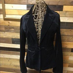 Black velvet size 8  WHBM blazer